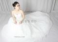 pronovias2013新款抹胸網紗法國蕾絲婚紗禮服 3