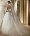pronovias2013新款抹胸網紗法國蕾絲婚紗禮服 5
