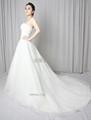 新款定製抹胸網紗法國蕾絲婚紗禮服 2