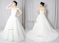 新款定製抹胸網紗法國蕾絲婚紗禮
