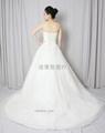 新款定製抹胸網紗法國蕾絲婚紗禮服 4