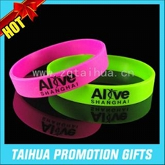 Custom cheap silicone wristband with printed logo