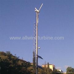 Wind-solar hybrid power-supply 3kw Windgenerator for Farm and Home Use