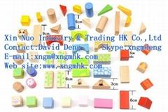 Wooden children's building blocks
