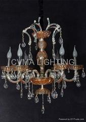 indoor crystal chandelier
