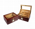 Wooden Cigar Humidor with Humidity Meter