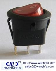 round rocker switch KCD1-105