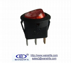 illuminated on off round rocker switch KCD16-101N