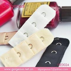 1 hook colored nylon bra extender