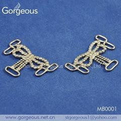 Bra shoulder strap metal accessories