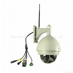 Outdoor PTZ Dome IP Camera with Zoom Function