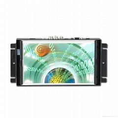 """10.2"""" 16:9 LCD metal frame touch monitor VGA AV S-video Signal"""