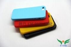 【深圳廠家】iphone5硅膠保護套晒紋噴手感油蘋果5代硅膠手機外殼