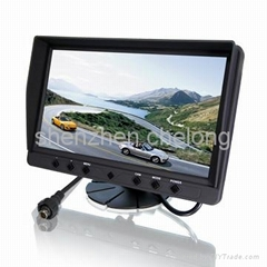 car monitor 9 inch Digital panel Aviation jack TFT LCD