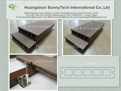 Wood plastic composite(WPC) hollow decking
