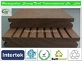 Wood plastic composite solid decking