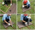 Wood plastic composite solid decking WD140S25 2