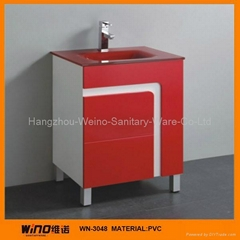 Flash Red PVC Bathroom Vanity