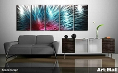 metal wall art wall sculpture . painting wall oil abstract art