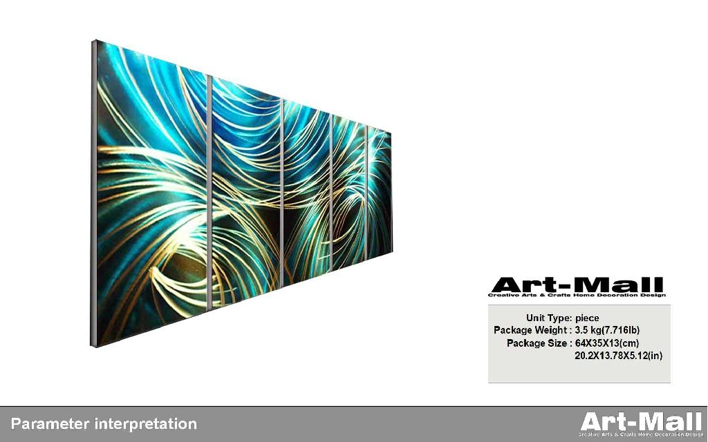 金屬家居裝飾畫147*62cm 2