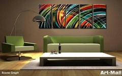 Metal wall art home decor 147*62cm