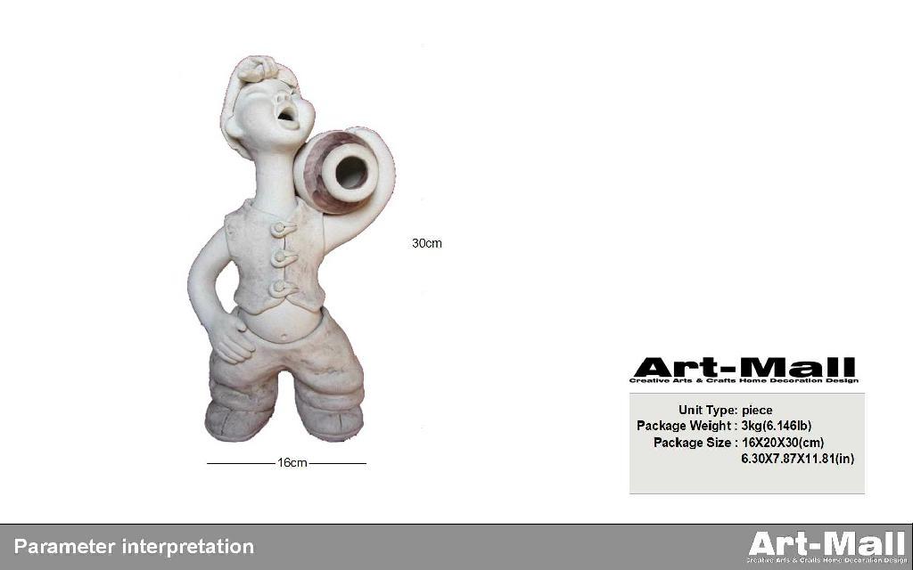粘土陶瓷雕塑特色人物造型節日禮品 2