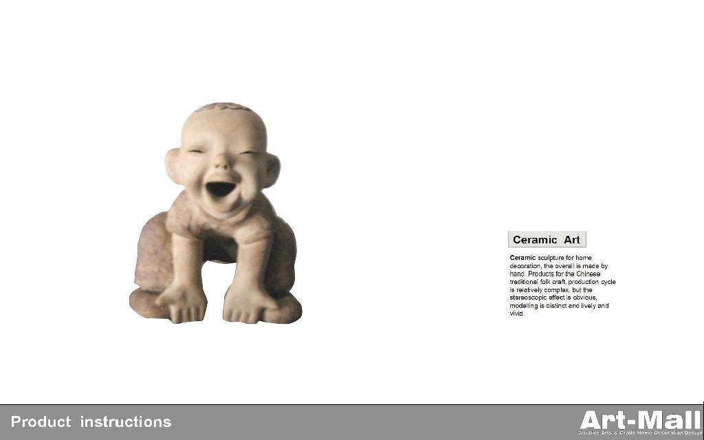 粘土陶瓷雕塑特色人物造型節日禮品 3