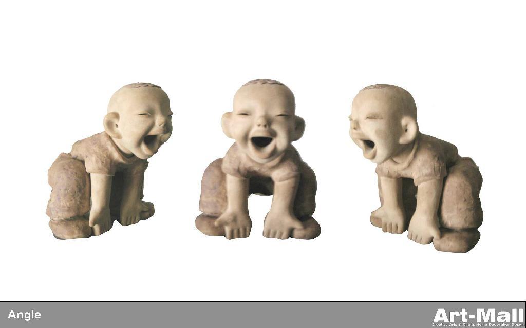粘土陶瓷雕塑特色人物造型節日禮品 4