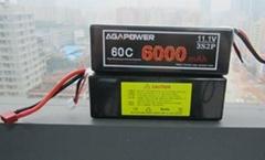 11.1v 60c 6000mah AGA lipo battery