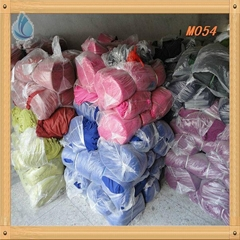 100%polyester voile material scarf color fabric dyed material