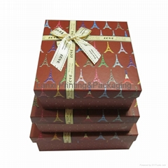 Eiffel Tower brown printed paper gift boxes for candy cosmetic and wedding