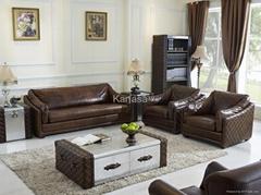 Sofa set in 3+1+1 vintag