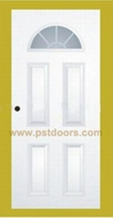 quality glass door with fan lite steel door