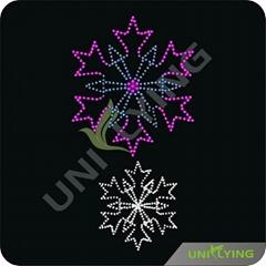 紫罗兰和白色雪花冰凌