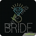 Bride diamond ring hotfix crystal