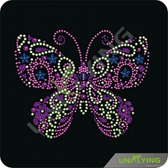 top sale beautiful butterfly rhinestone transfers