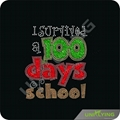 100 days for school heat rhinestone