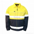 Hi-Vis Cotton Drill Reflective Jacket