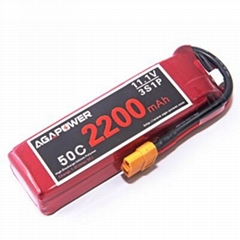 AGA Rc lipo battery 2200mAh 11.1v 50C for helicopter