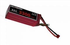 Agapower RC Battery 3300mAh 50C 7.4v for Helicopter