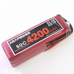 Agapower 22.2V RC Lipo Battery 4200mAh 50C for Helicopter