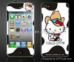 Hot Sale Cute Hello Kitty Screen Protector for iPhone4