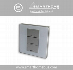 Smart-Bus 3 Button Switch Wall Panel