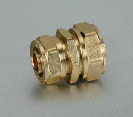 Brass compression fitting for copper pipe hy