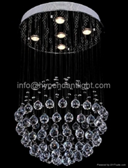 Stainless steel Modern simple Crystal balls Led Ceiling Pendant Lights