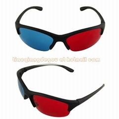 Red Blue  3D Glass 3D moive TV video glasses 3D anaglyphic Movie DVD
