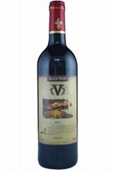法國V牌紅葡萄酒