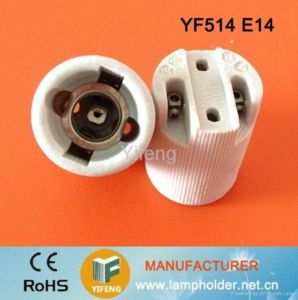 e14 ceramic lamp base with bracket 1