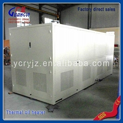 Electric thermal oil heater in hot roller