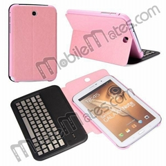Aluminum Bluetooth Wireless Keyboard with Flip Leather Case Cover For Samsung